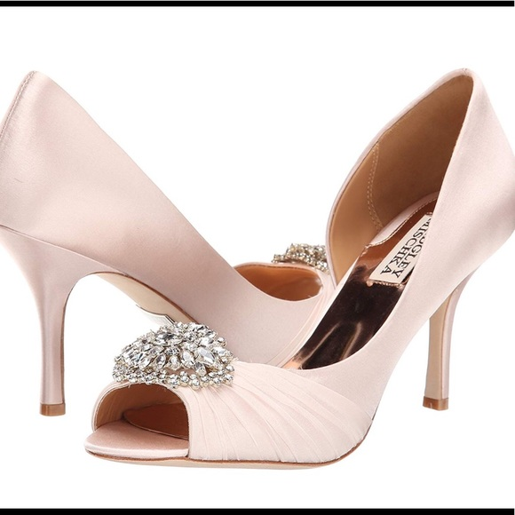 d3554d7e265e Badgley Mischka Shoes - Badgley Mischka Pearson Pink Satin Pump